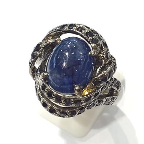 [블루케이] 사파이어 원석 반지 n191117-20러프엔틱