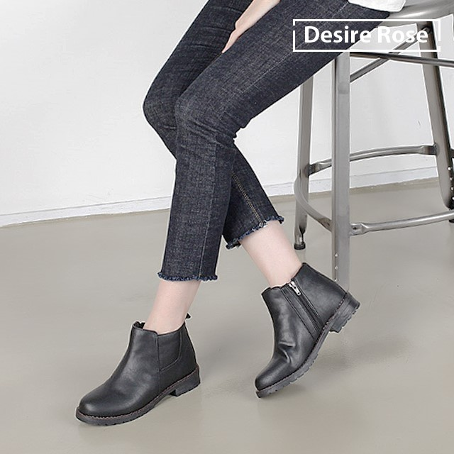 [디자이어로즈] 20대 30대 여성 털안감 앵클부츠 3cm WS4324