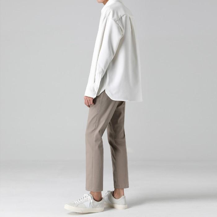 [티아그]  리브 기모 오버 셔츠 (3col)