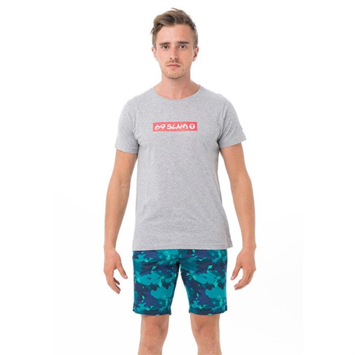 [69슬램] 남여공용 69슬램 레드(그레이) 디앤에이 티셔츠