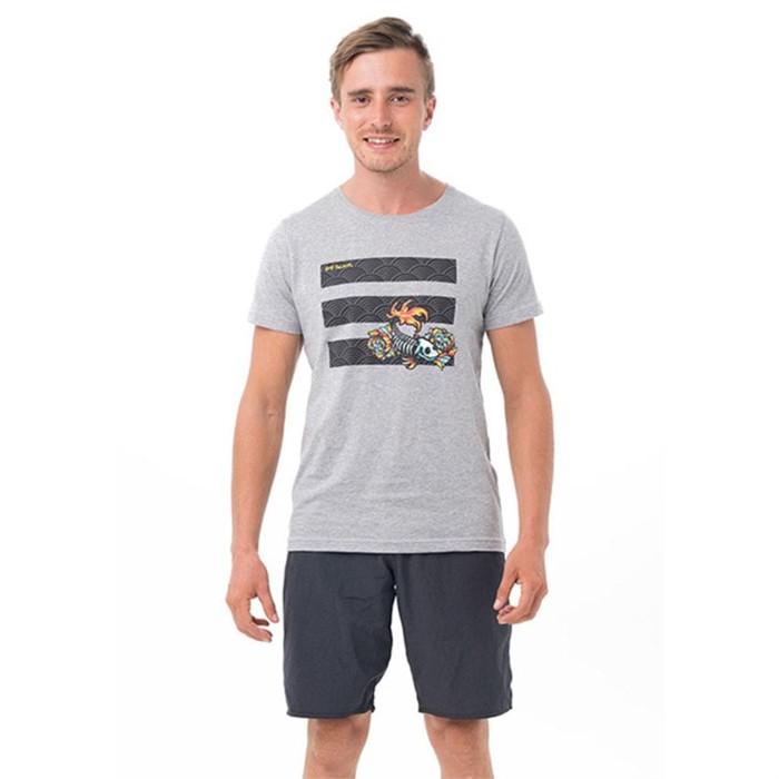 [69슬램] 남여공용 스컬 피쉬(그레이) 디앤에이 티셔츠