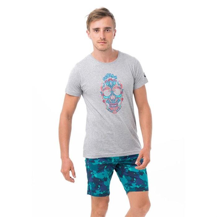 [69슬램] 남여공용 스컬나멘트(그레이) 디프런 티셔츠