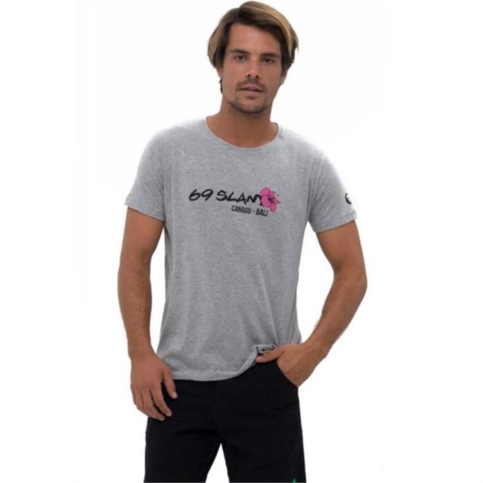 [69슬램] 남여공용 히비스커스 로고(그레이) 디앤에이 티셔츠