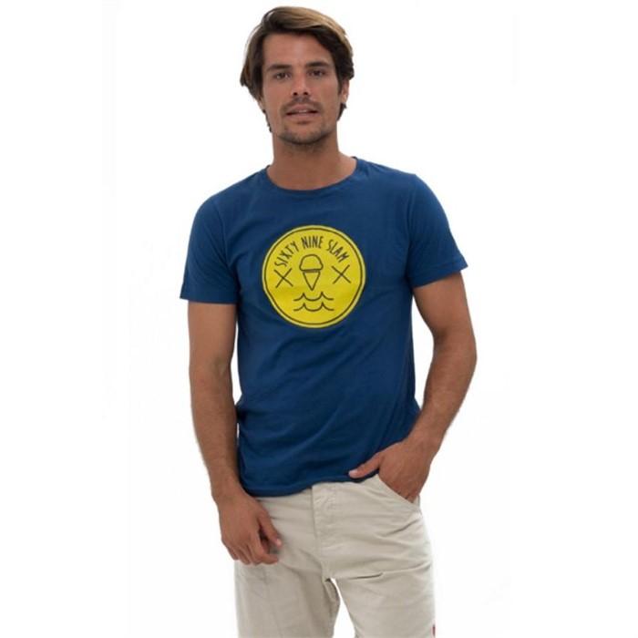 [69슬램] 남여공용 웨이브(네이비) 디앤에이 티셔츠