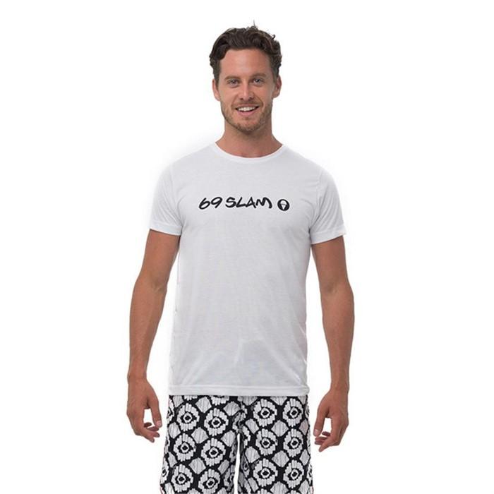 [69슬램] 남녀공용 화이트 한스 래쉬 티셔츠