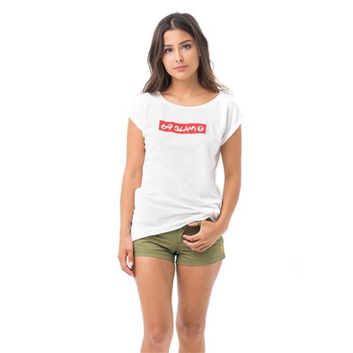 [69슬램] 여성 69슬램 레드 엘리샤 티셔츠