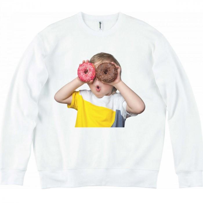 커스텀 글리머 기모 얼굴 프린팅 맨투맨 도넛