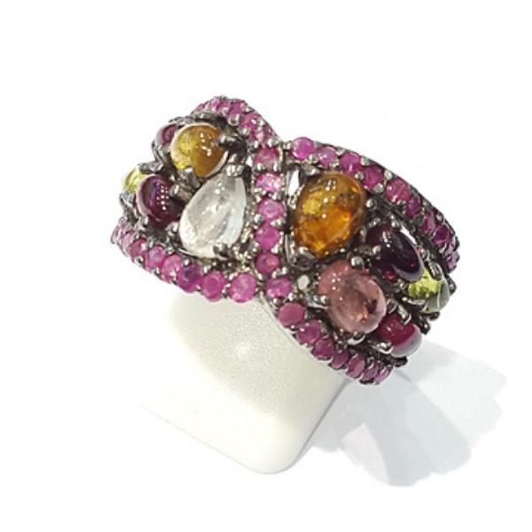 [블루케이] 투어마린 원석 반지 n191120-04