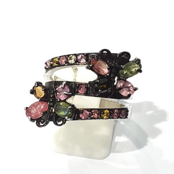 [블루케이] 투어마린 원석 반지 n191120-05나비
