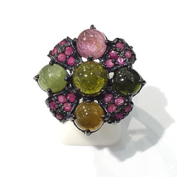 [블루케이] 투어마린 원석 반지 n191120-06