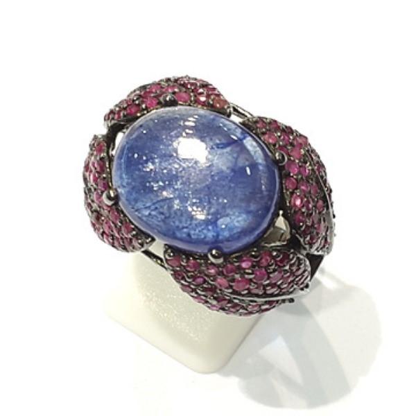[블루케이] 탄자나이트 루비 원석 반지 n191120-10디자이너작품