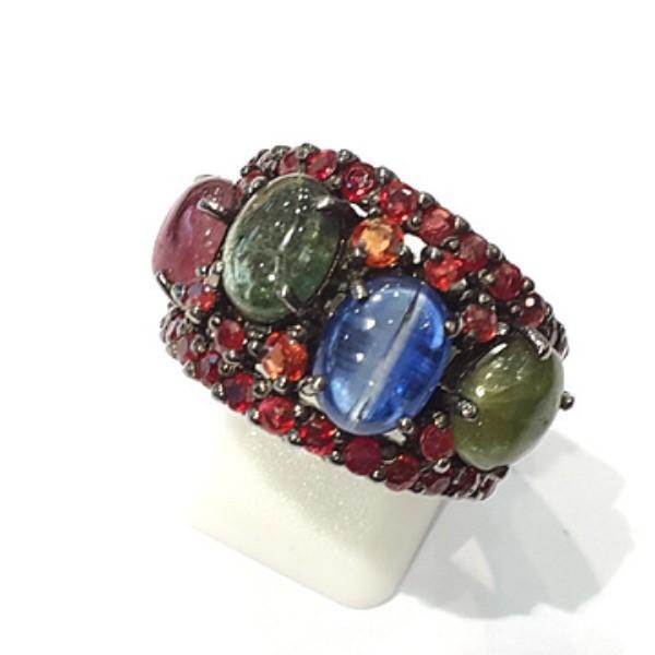 [블루케이] 탄자나이트 투어마린 원석 반지 n191120-11