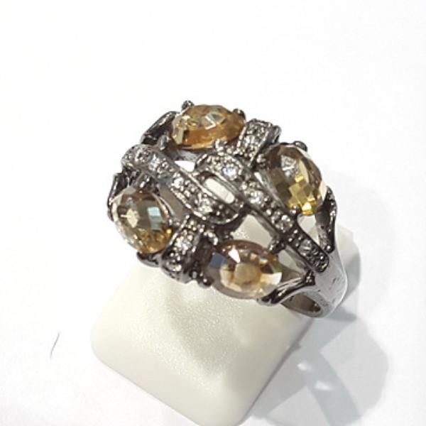 [블루케이] 브라운 지르코니아 원석 반지 n191120-14