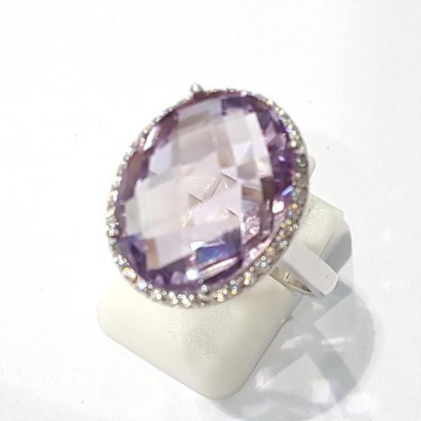 [블루케이] 자수정 원석 반지 n191120-16디자이너작품