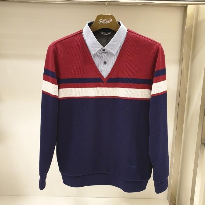 크로커다일 NC05 융 남방배색 티셔츠 A4KW4383