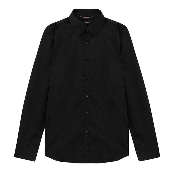 지이크.F NC05 슬림핏 블랙 드레스 셔츠 FYB5002
