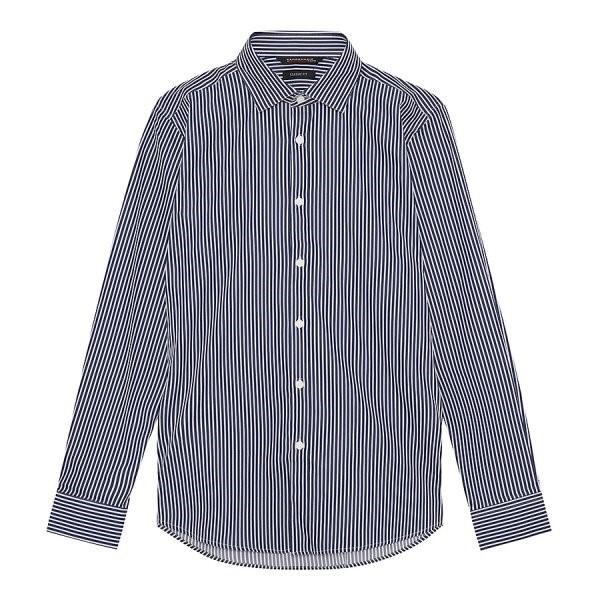 지이크.F NC05 클래식 핏 스트라이프 셔츠 FYB5103