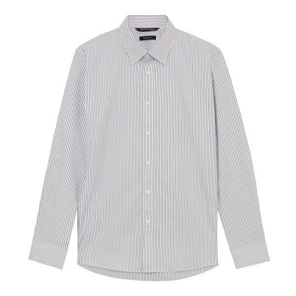 지이크.F NC05 클래식 핏 스트라이프 셔츠 FYB5104