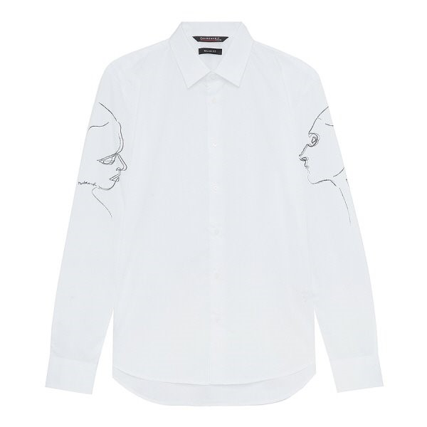 지이크.F NC05 릴렉스핏 소매 스케치 셔츠 FYB5440
