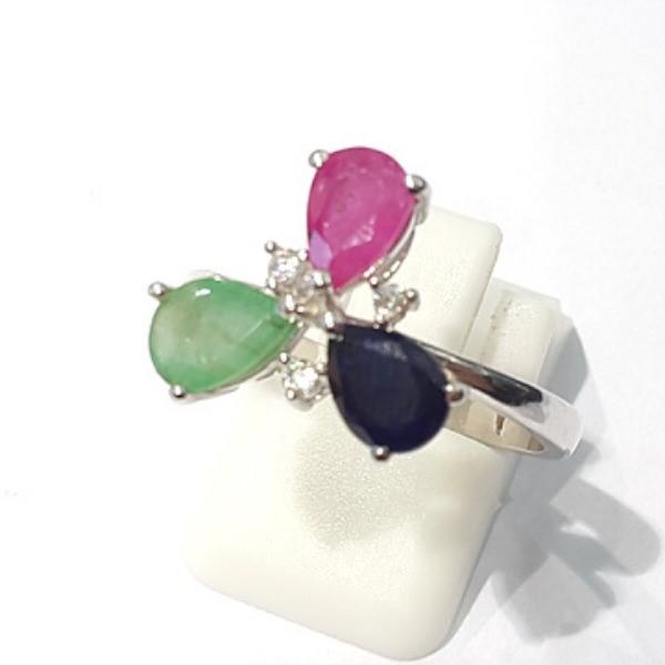 [블루케이] 루비 에메랄드 사파이어 원석 반지 n191121-04