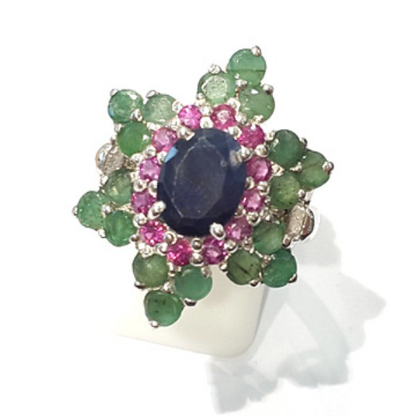 [블루케이] 사파이어 루비 에메랄드 원석 반지 n191121-05