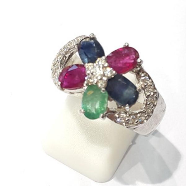 [블루케이] 사파이어 루비 에메랄드 원석 반지 n191121-08