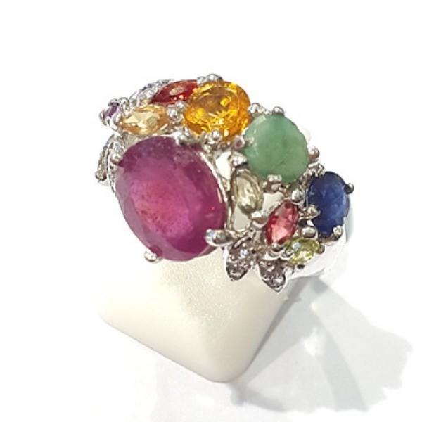 [블루케이] 루비 사파이어 에메랄드 원석 반지 n191121-10