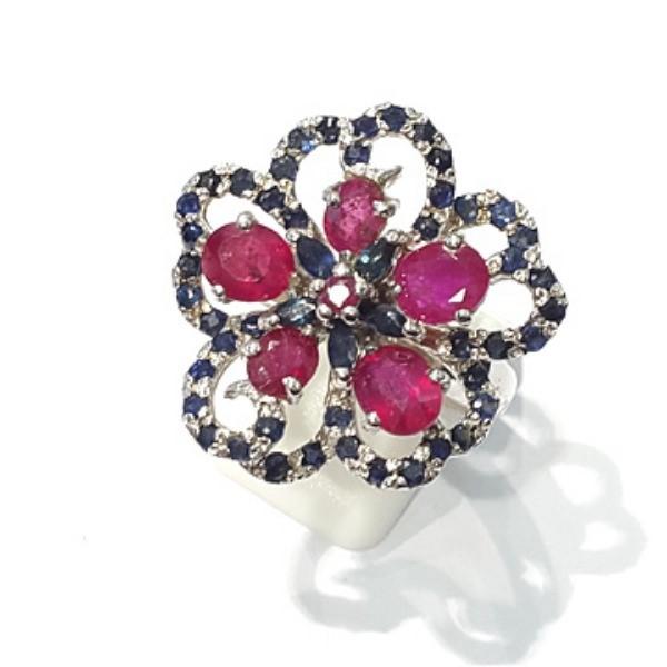 [블루케이] 루비 사파이어 원석 반지 n191121-11