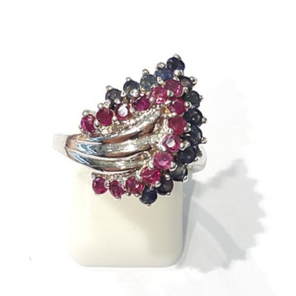 [블루케이] 루비 사파이어 원석 반지 n191121-12