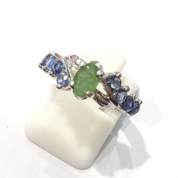 [블루케이] 에메랄드 사파이어 원석 반지 n191121-17