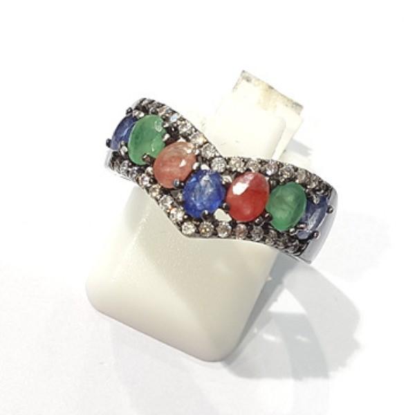 [블루케이] 루비 에메랄드 사파이어 원석 반지 n191121-18