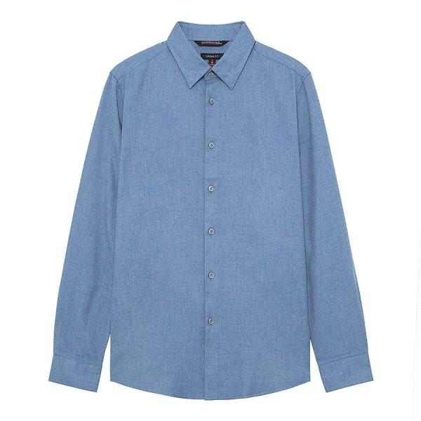 지이크.F NC05 클래식핏 블루 레귤러 셔츠 FYB5369