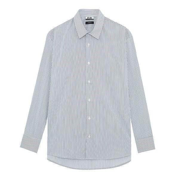 지이크.F NC05 오버핏 스트라이프 셔츠 FYB5455
