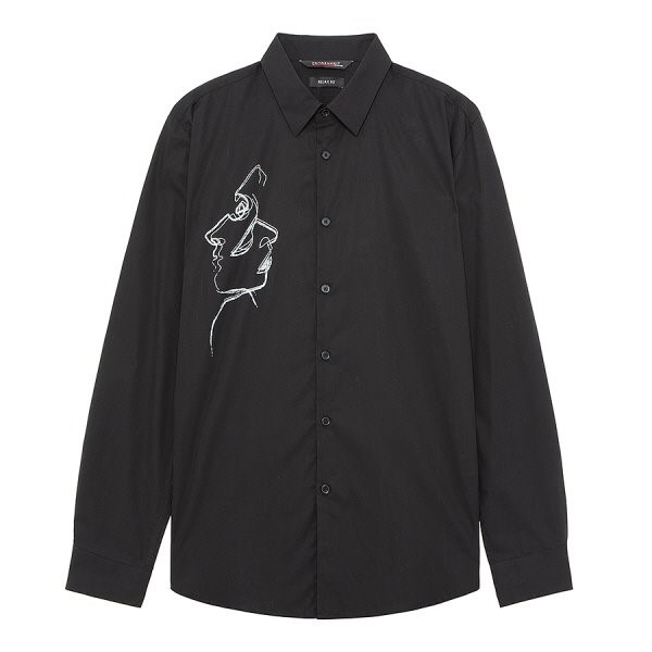 지이크.F NC05 릴렉스핏 페이스 라인 셔츠 FYB5441