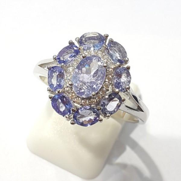 [블루케이] 탄자나이트 원석 반지 n191201-11