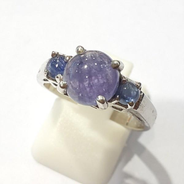 [블루케이] 탄자나이트 원석 반지 n191201-12