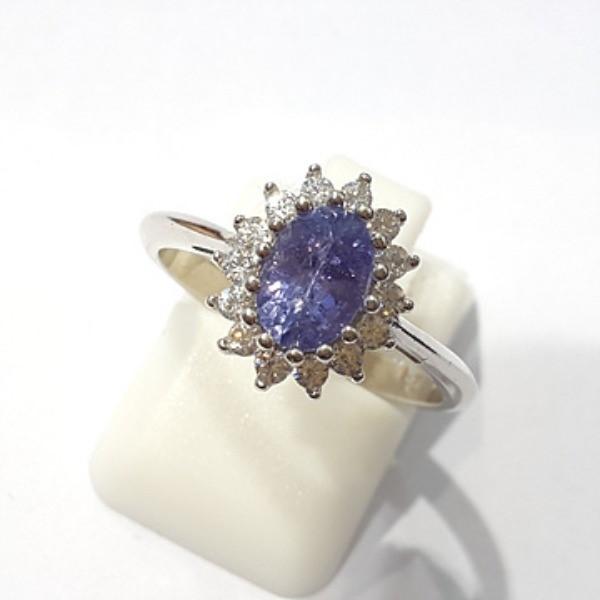 [블루케이] 탄자나이트 원석 반지 n191201-13