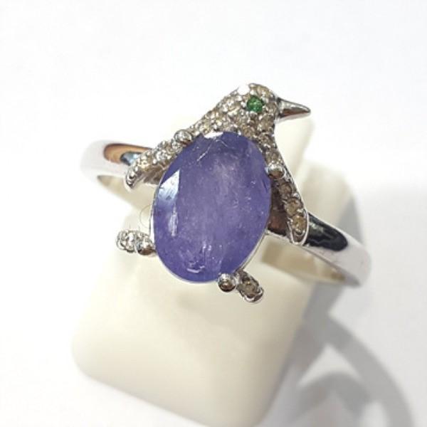 [블루케이] 탄자나이트 원석 반지 n191201-14펭귄