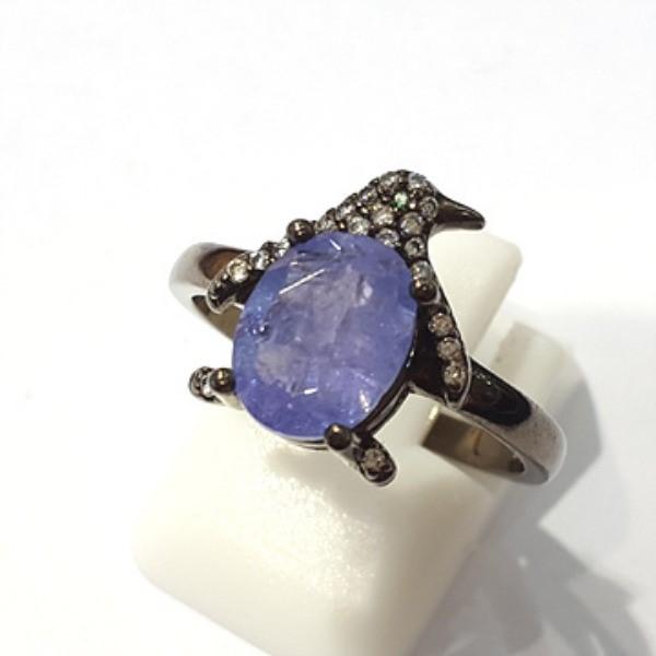 [블루케이] 탄자나이트 원석 반지 n191201-15펭귄