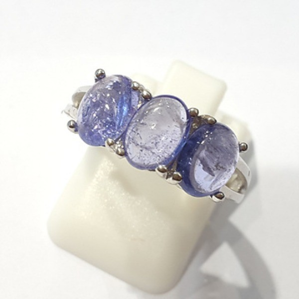 [블루케이] 탄자나이트 원석 반지 n191201-16