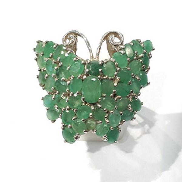 [블루케이] 에메랄드 원석 반지 n191201-19나비