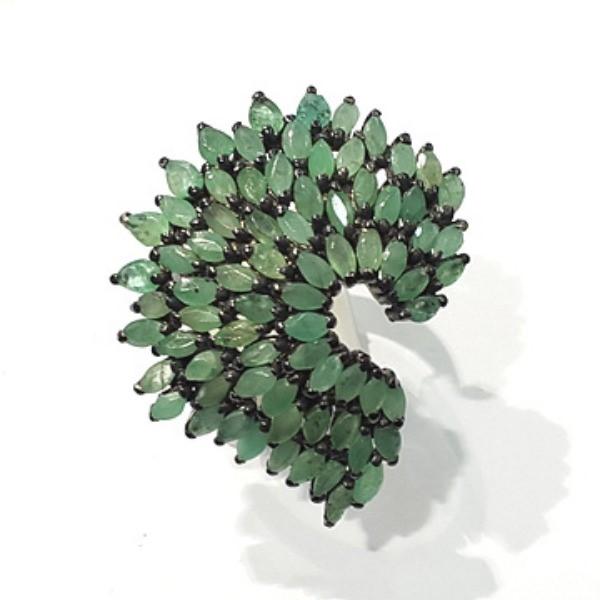 [블루케이] 에메랄드 원석 반지 n191201-20작품