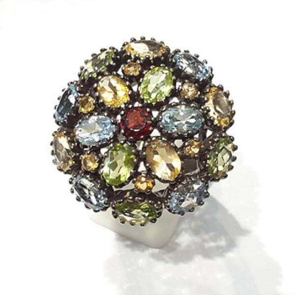 [블루케이] 가넷 시트린 토파즈 믹스 원석 반지 n191201-07