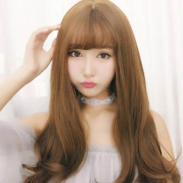 [마물샵] 여자 패션 웨이브롱가발 여신머리 예쁜가발 통가발 (망포함)