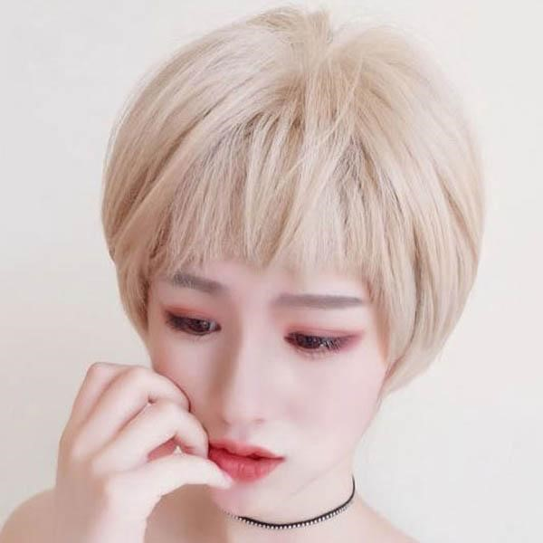 [마물샵] 여자 패션 숏컷스타일 짧은머리 귀여운스타일 통가발(망포함)