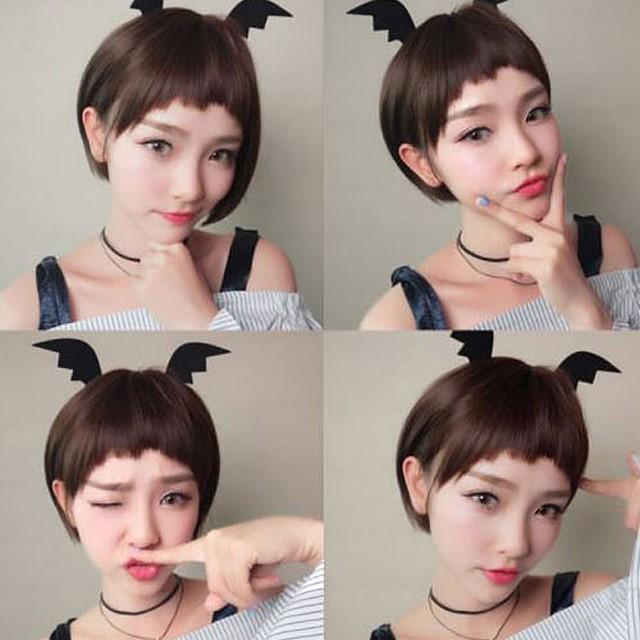 [마물샵] 여자 패션 컷트가발 숏헤어 귀여운가발 통가발 (망포함)