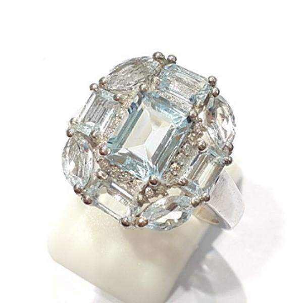 [블루케이] 블루토파즈 원석 반지 n191202-1