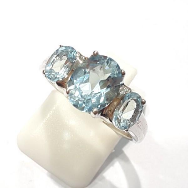 [블루케이] 블루토파즈 원석 반지 n191202-2
