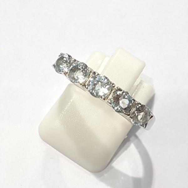 [블루케이] 블루토파즈 원석 반지 n191202-4