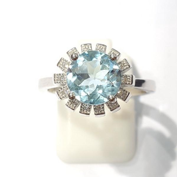 [블루케이] 블루토파즈 원석 반지 n191202-5